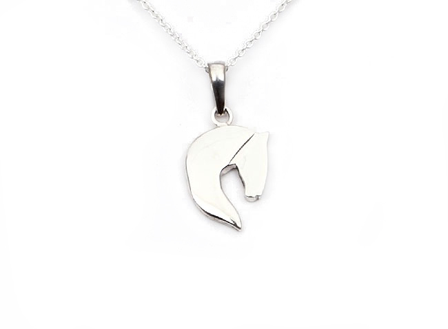 Small silver horse pendant boutique cavalia mozeypictures Image collections